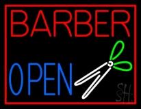 Barber Open LED Neon Sign