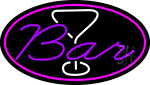 Purple Bar With Martini Glass LED Neon Sign