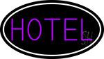 Purple Hotel With White Border Neon Sign