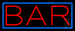 Red Bar With Blue Border LED Neon Sign