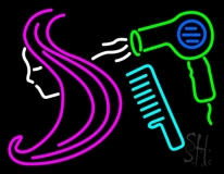 Barber Shop Hair Logo Salon LED Neon Sign