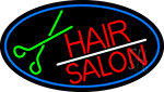 Red Hair Salon With Scissor Neon Sign