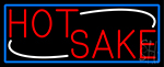 Red Hot Sake With Blue Border LED Neon Sign