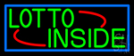 Red Lotto Inside LED Neon Sign