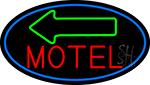 Red Motel With Green Arrow LED Neon Sign