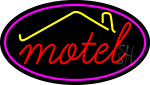 Red Motel With Symbol Neon Sign
