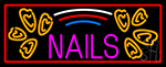 Red Nails Neon Sign