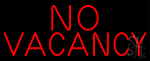 Red No Vacancy LED Neon Sign