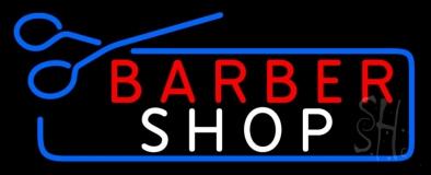 Barber Shop With Scissor LED Neon Sign