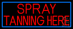 Red Spray Tanning Here LED Neon Sign