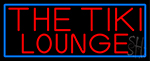 Red The Tiki Lounge With Blue Border LED Neon Sign