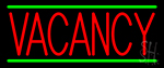 Red Vacancy LED Neon Sign