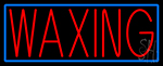 Red Waxing Neon Sign