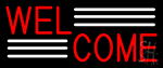 Red Welcome LED Neon Sign