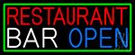 Restaurant Bar Open LED Neon Sign