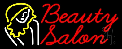 Beauty Salon With Girl LED Neon Sign