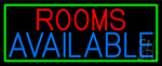 Rooms Available Vacancy With Green Border LED Neon Sign