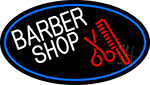 Round Barber Shop Logo Neon Sign