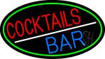 Round Cocktail Bar Neon Sign
