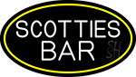 Scotties Bar Oval With Yellow Border LED Neon Sign