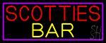 Scotties Bar With Purple Border LED Neon Sign