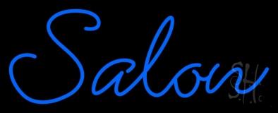 Blue Cursive Salon LED Neon Sign
