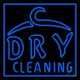 Blue Dry Cleaning LED Neon Sign