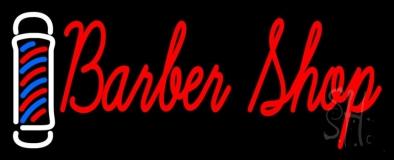 Cursive Red Barber Shop LED Neon Sign
