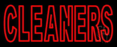 Double Stroke Cleaners LED Neon Sign