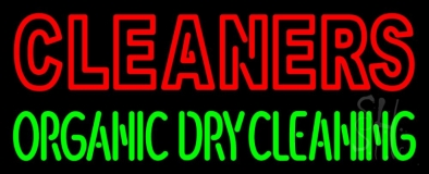 Double Stroke Cleaners Organic Dry Cleaning LED Neon Sign