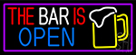 This Bar Is Open With Beer Mug LED Neon Sign