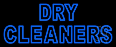 Double Stroke Dry Cleaners LED Neon Sign