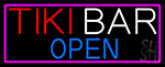 Tiki Bar Open LED Neon Sign