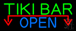 Tiki Bar Open With Arrow LED Neon Sign