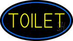 Toilet Oval With Blue Border Neon Sign