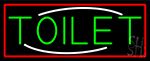 Toilet With Red Border LED Neon Sign