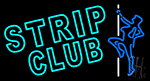 Turquoise Strip Club LED Neon Sign