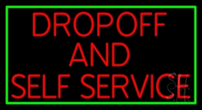 Drop Off And Self Service LED Neon Sign