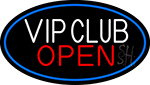 Vip Club Oval With Blue Border Neon Sign