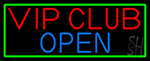 Vip Club With Green Border Neon Sign