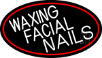 Waxing Facial Nails Neon Sign