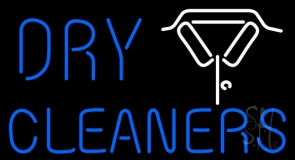 Dry Cleaners With Shirt Logo LED Neon Sign