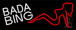 White Bada Bing Girl Neon Sign