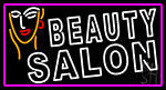 White Beauty Salon With Girl Neon Sign