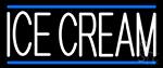 White Ice Cream LED Neon Sign