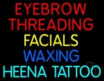 Eyebrow Threading Facials Waxing LED Neon Sign