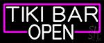 White Tiki Bar Open LED Neon Sign