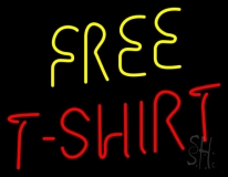 Free T Shirts LED Neon Sign