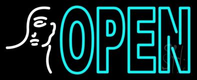 Girl Logo Open LED Neon Sign