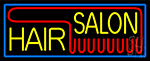 Yellow Hair Salon Red Neon Sign